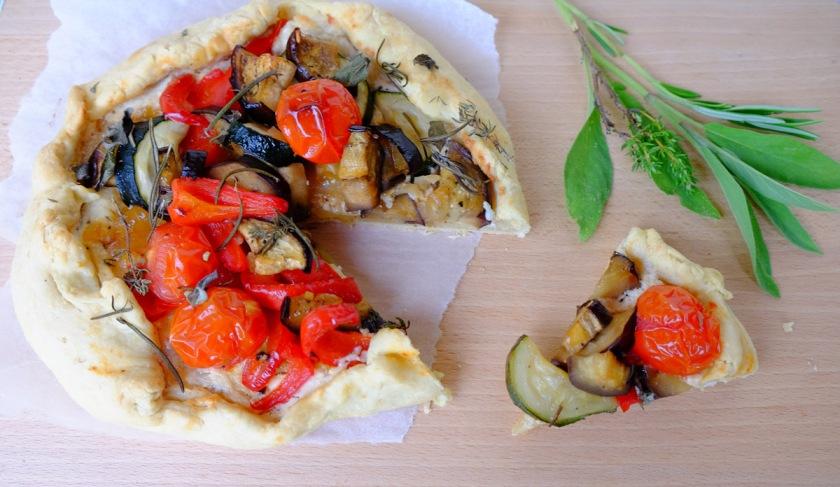 Gemüsegalette mit Ziegenkäse2