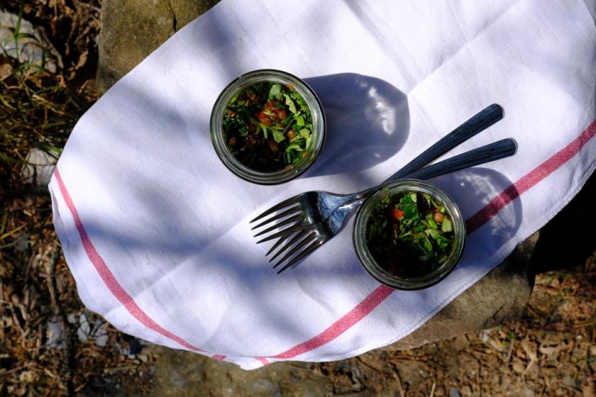 Linsensalat mit mediteranem Gemüse2