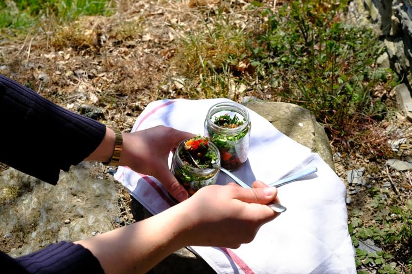 Linsensalat mit mediteranem Gemüse4